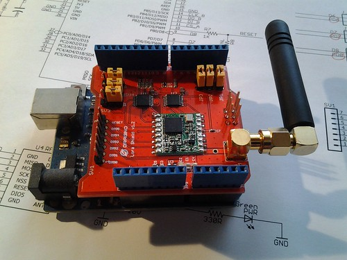 Testbericht Dragino LoRa Shield at Arduino Praxis Blog