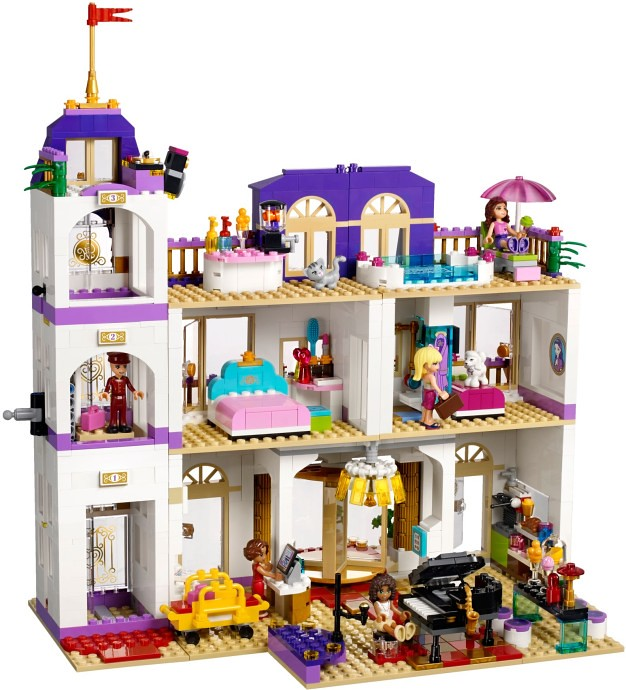 lego friends 41101 heartlake grand hotel toy building block kidult ebay. Black Bedroom Furniture Sets. Home Design Ideas