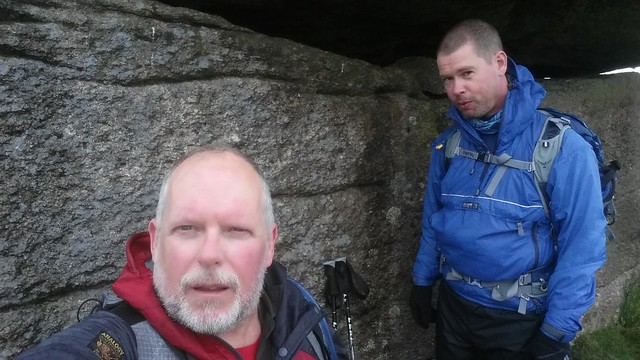 Sheltering below Little Mis Tor