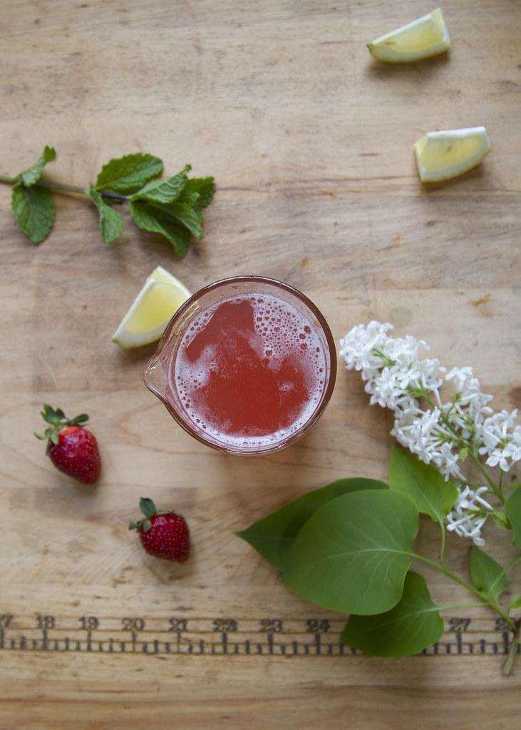 rhubarb syrup + rhubarb strawberry smash | reading my tea leaves
