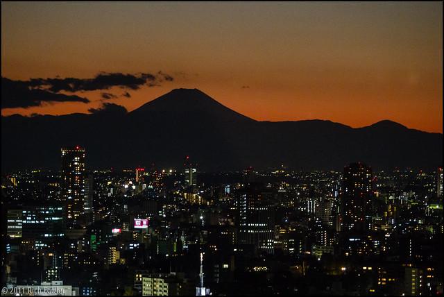 Mt. Fuji at Dusk.