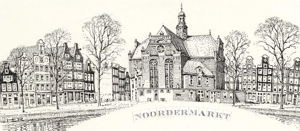 Marché de Noordermarkt à Amsterdam, l'un des plus agréable de la ville.