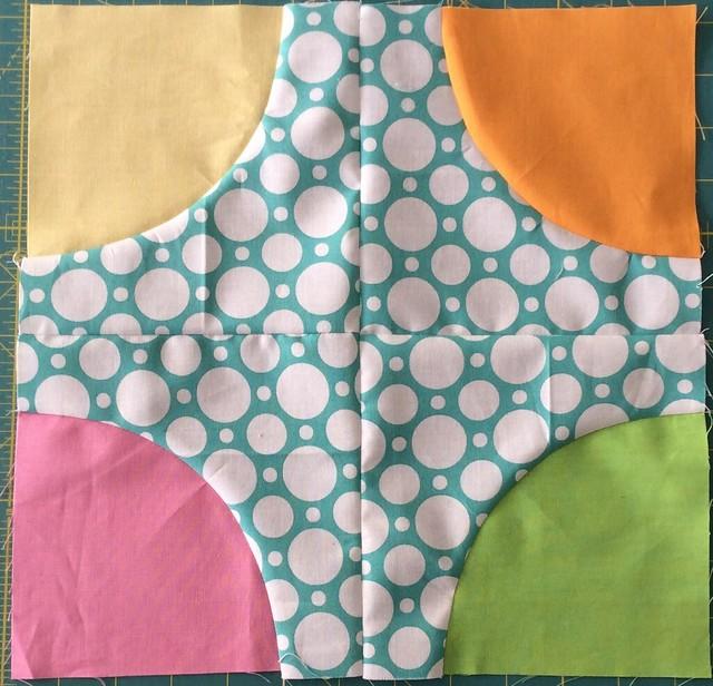 May Care blocks - polka dot circles
