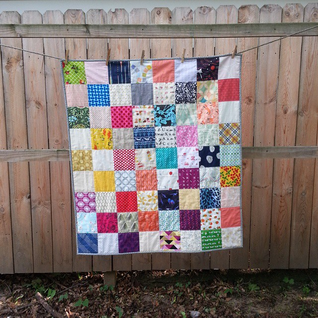 I felt like making a quilt today so I did. First one finished all year.