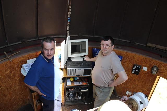 Canis Maior Solar Observatory - Tamás Bognár, Zsolt Perkó (left to right)