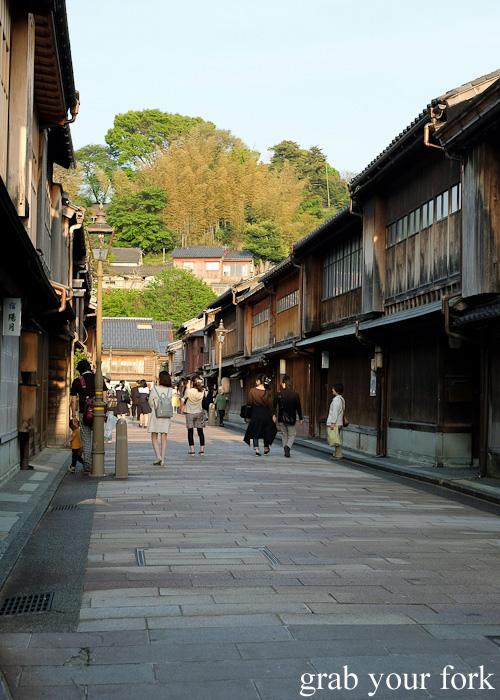 Old teahouses in Higashi Chaya, Kanazawa