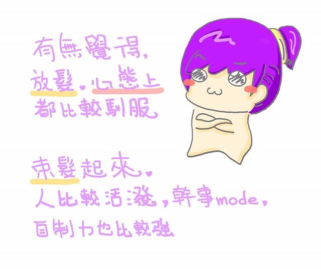 CIRCLEG 腦點系列 小繪圖 外在行爲 影響心態 馴服 放髮 束髮 外表 笑 開心 幹事  正能量 (2)