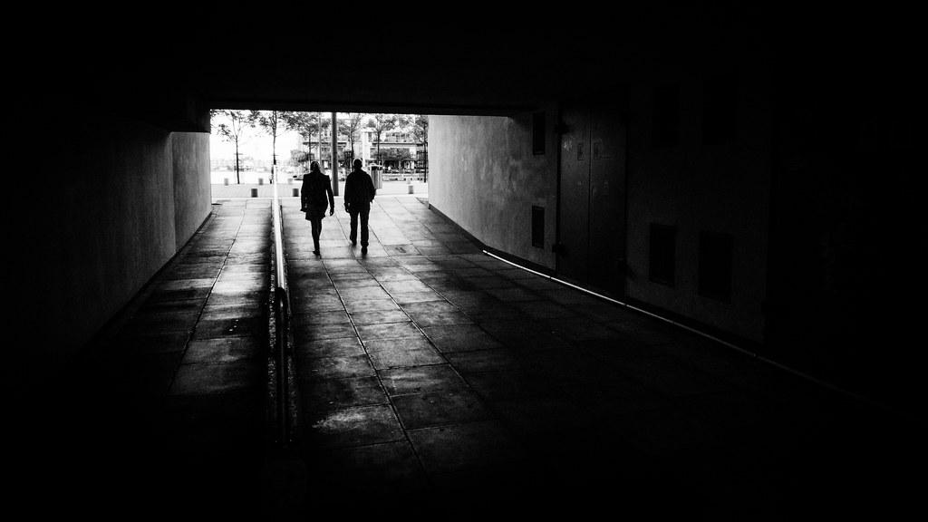 The Couple - Dublin, Ireland - Black And White Street Phot -4374
