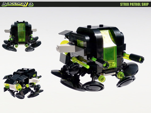 Blacktron 3 Strix Patrol Ship