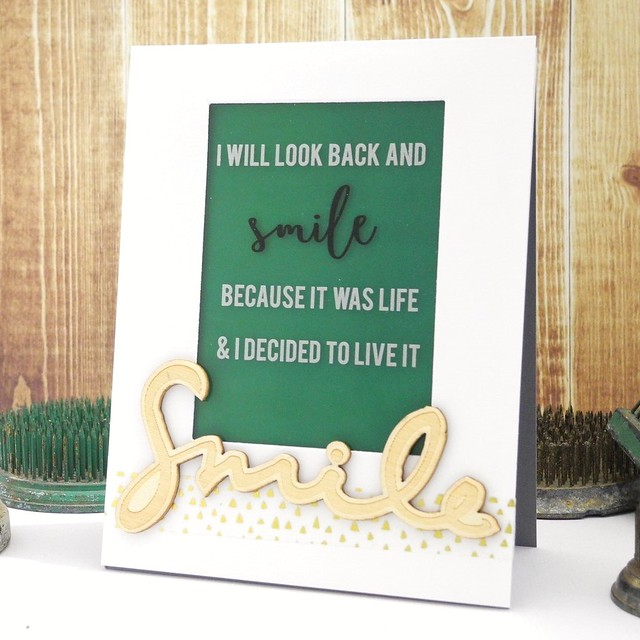 Look Back and Smile by Jennifer Ingle #justjingle #pinkfreshstudio #cards #diy #quotes