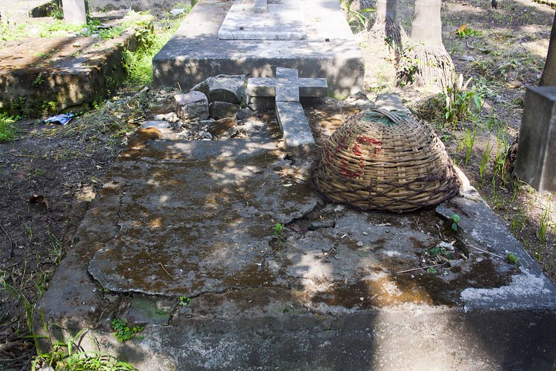 Graves in poor condition in Greek Cemetery Kolkata
