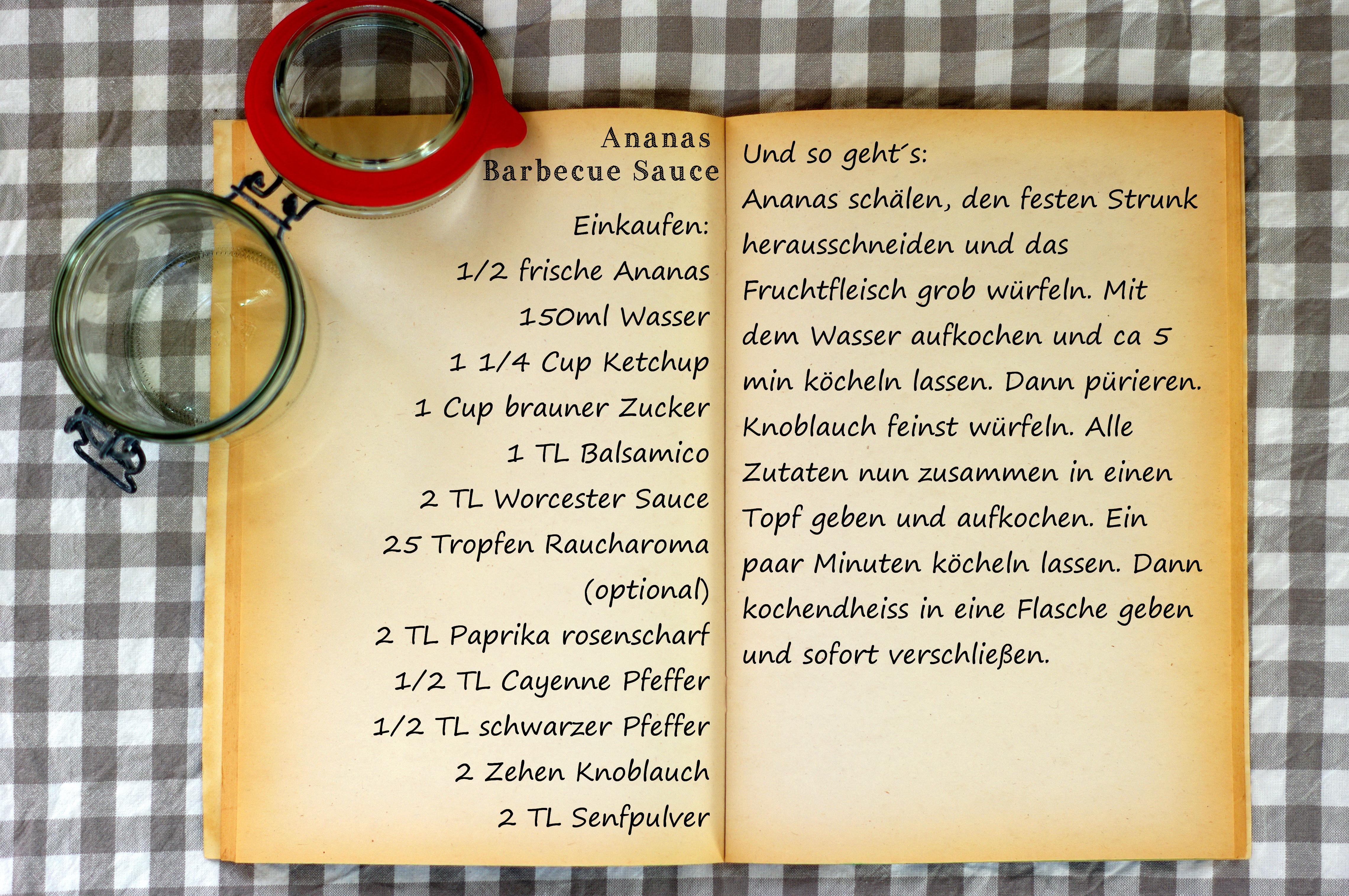 Einkaufszettel Ananas BBQ Sauce by Glasgeflüster