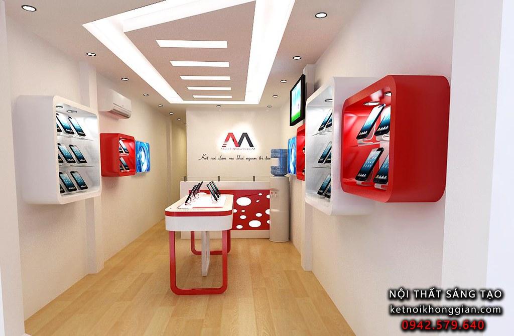 thiết kế cửa hàng cao cấp