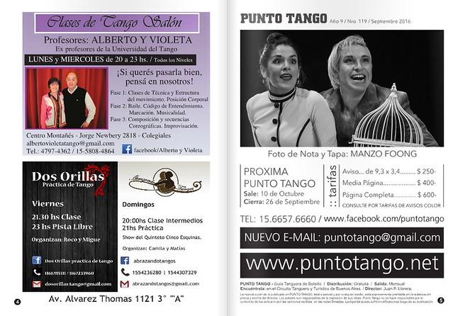 Revista Punto Tango 119 Septiembre 2016-01