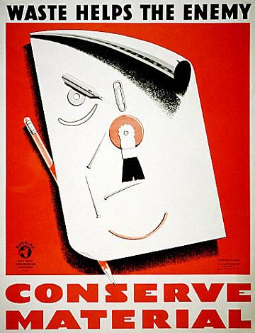 World War II Posters - Conserve Material