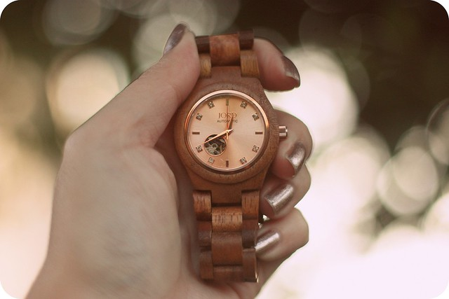 Cora Rose Gold Wood Watch (c/o Jord Watch)