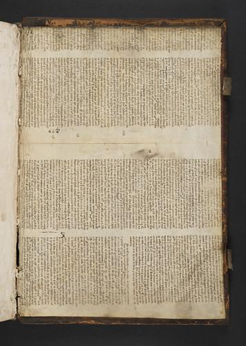 Vellum manuscript pastedown in Ludolphus de Saxonia: Vita Christi