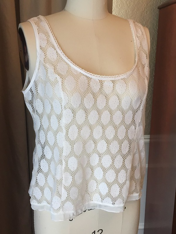 Black & White & Lace Tank - Before