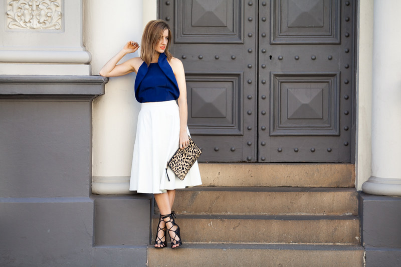 What to wear: White midi skirt by Bardot