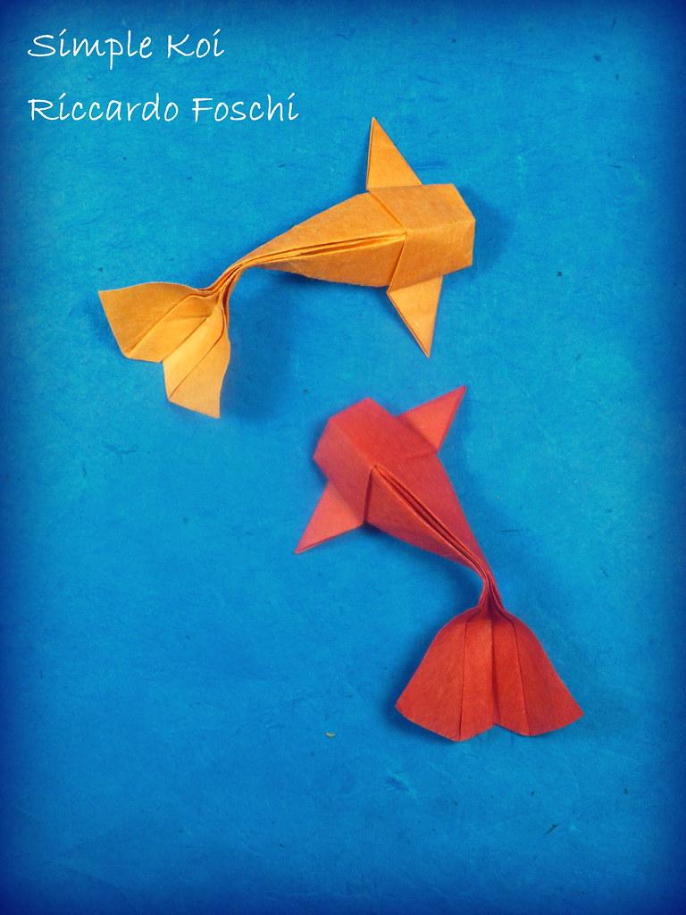 Simple koi a riccardo foschi design a few days ago for Origami koi fish tutorial
