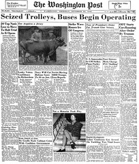 Seized Trolleys, Buses Begin Operating: 1945