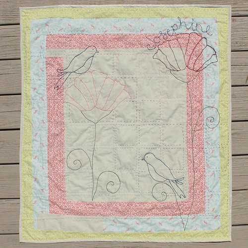 Woodlands Baby Quilt Car Seat Cover