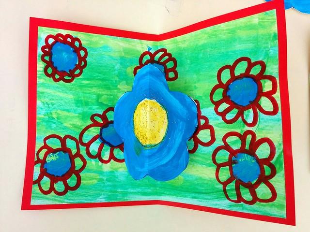 Carte popup fleur