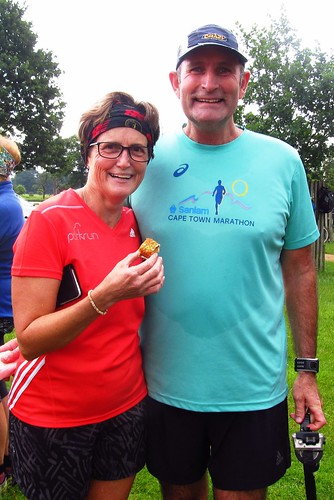 parkrun tourists Cheryl Smith and Mark Smit from South Africa