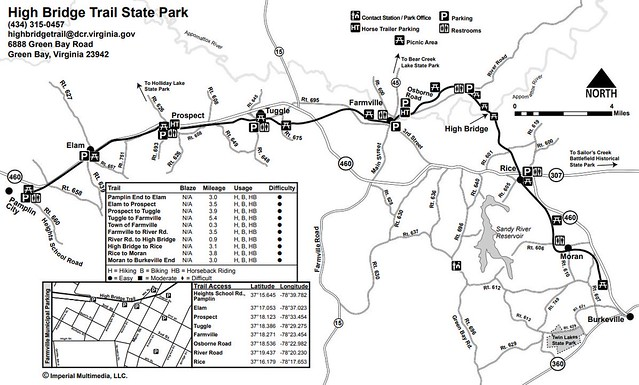 High Bridge Trail State Park on