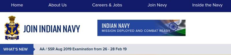 Notice on Navy's website