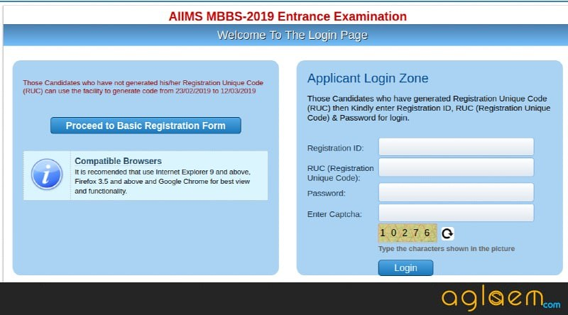 AIIMS MBBS 2019 Application Form - Final Registration (Started), Pay