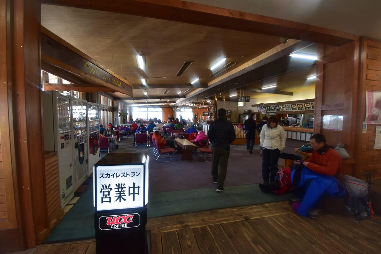 北八ヶ岳ロープウェイ乗り場のレストラン