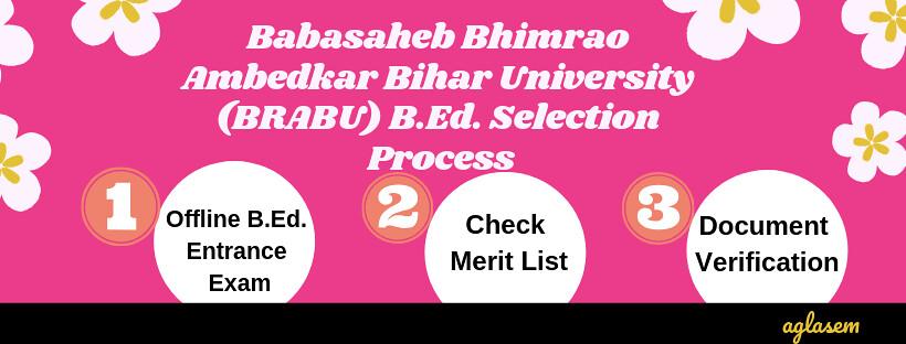 BRABU B.Ed. Admission 2019