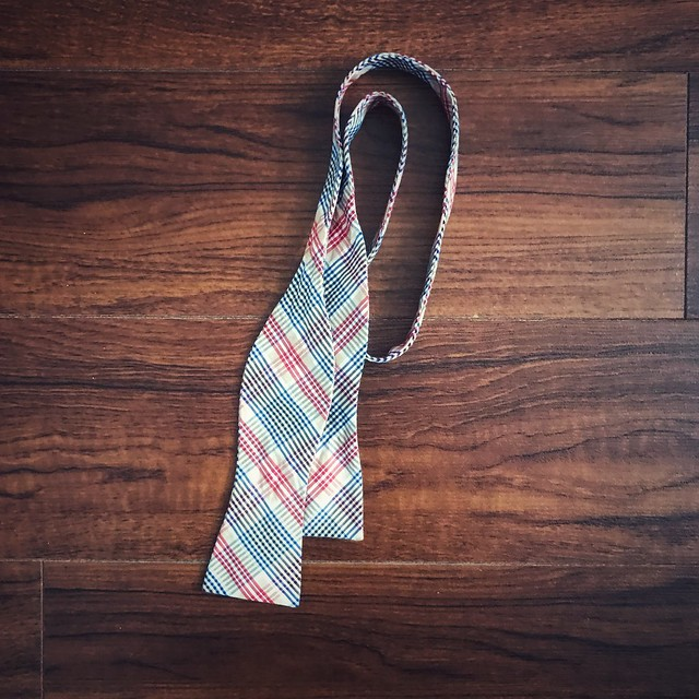 Photo of plaid bowtie