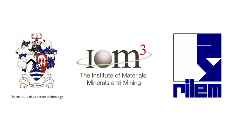 ICT, RILEM and IoM3 logos