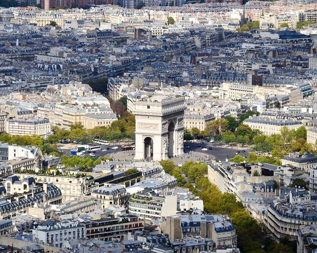 Arco del Triunfo desde la Torre Eiffel