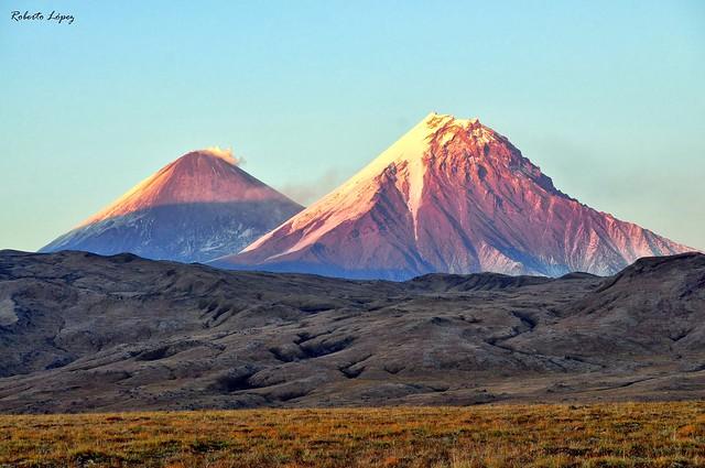 Volcanes en Kamchatka