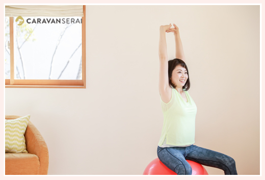 五藤まほ様 バランスボール・体力メンテナンスインストラクター プロフィール写真