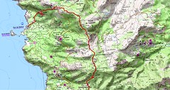 Carte Chapelle ND des Grâces - Centuri au Cap Corse