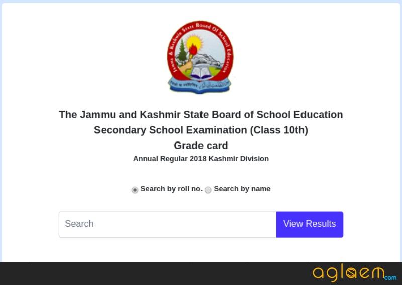 JKBOSE 10th Result 2018 For Annual Regular Session of Kashmir Division- Winter Zone