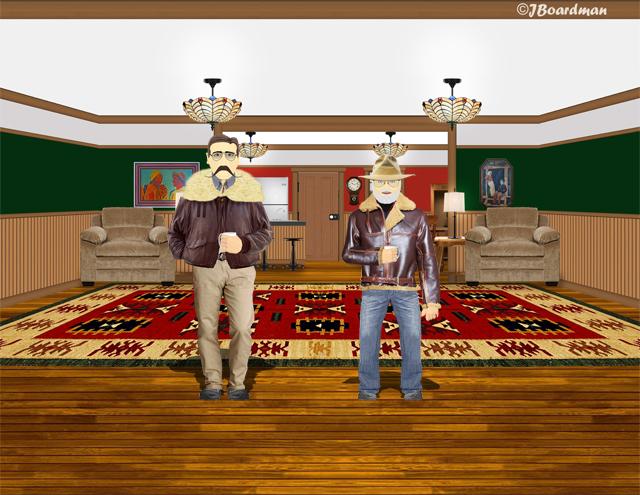 Inside Boomer's Cabin
