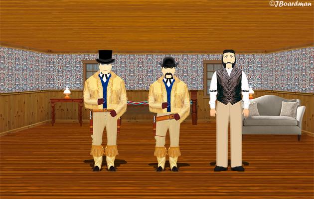 Simpson and Jimmy Smith inside Big Bay Saloon Back Room ©J. Boardman
