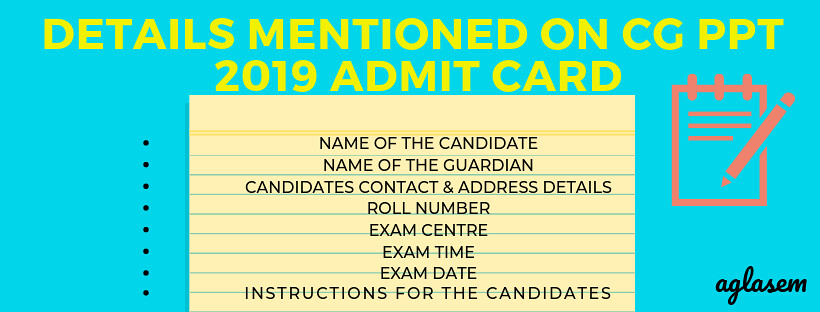 cg ppt 2019 admit card