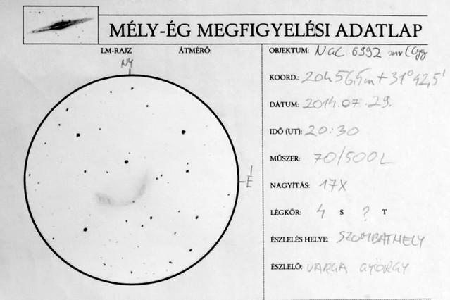 VCSE - A Fátyol-köd egy részletének észlelése - Varga György