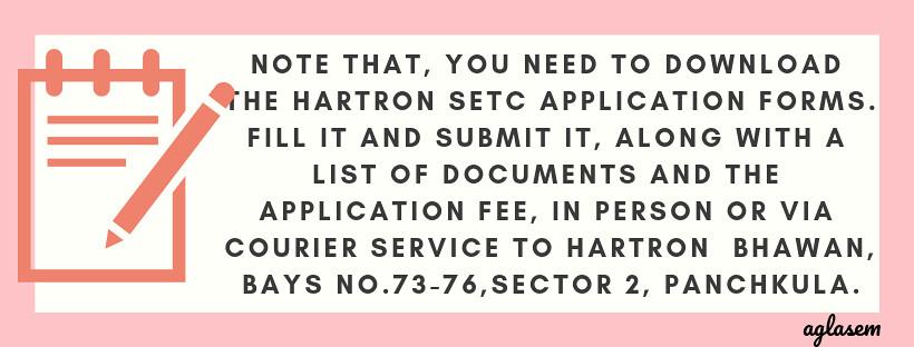 HARTRON SETC 2019 Application form