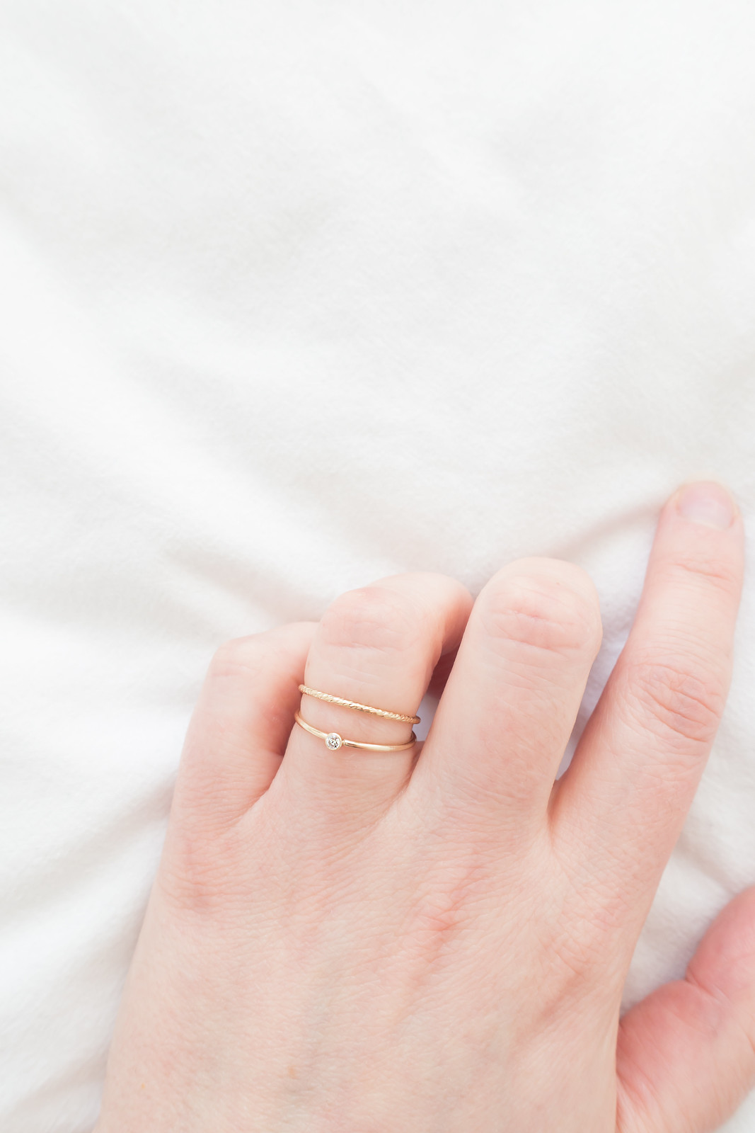 Minimal Textured Stacking Ring