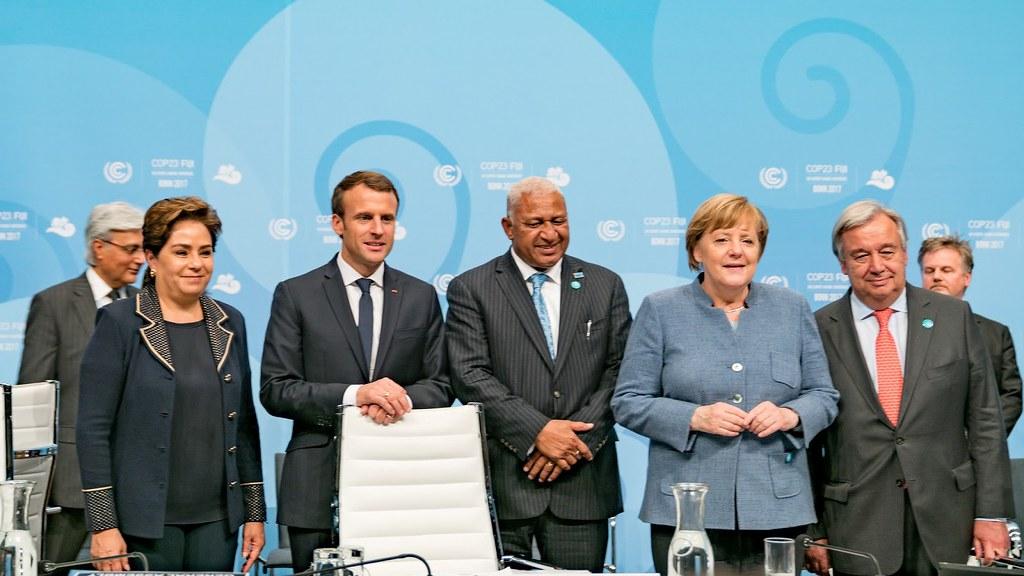 去年COP23到場穩定軍心的德、法兩大歐盟領袖,今年皆因內部動盪而難有作為。