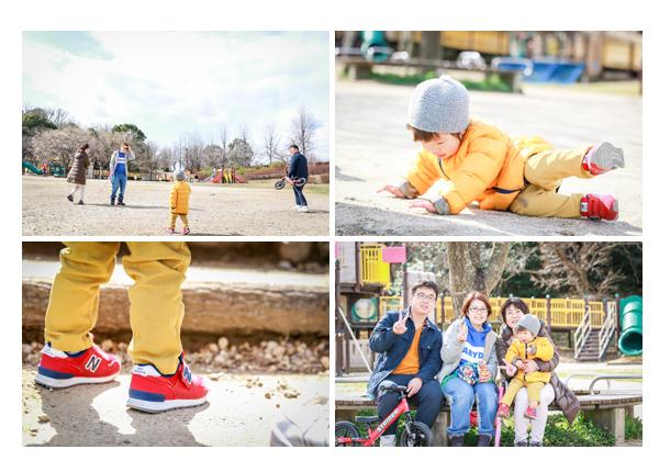 大高緑地公園で家族写真 名古屋市緑区