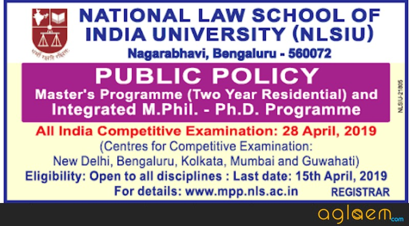 NLSIU Opens Admission to LLM And Integrated Ph.D Programme in Public Policy