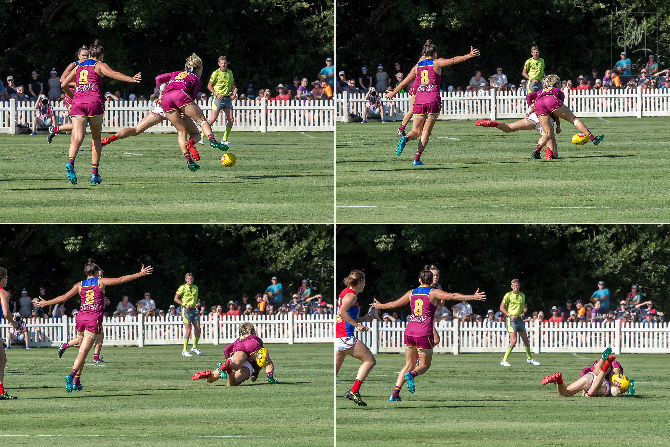 What it feels like to be chased down and buried in the turf by speedster Kate McCarthy